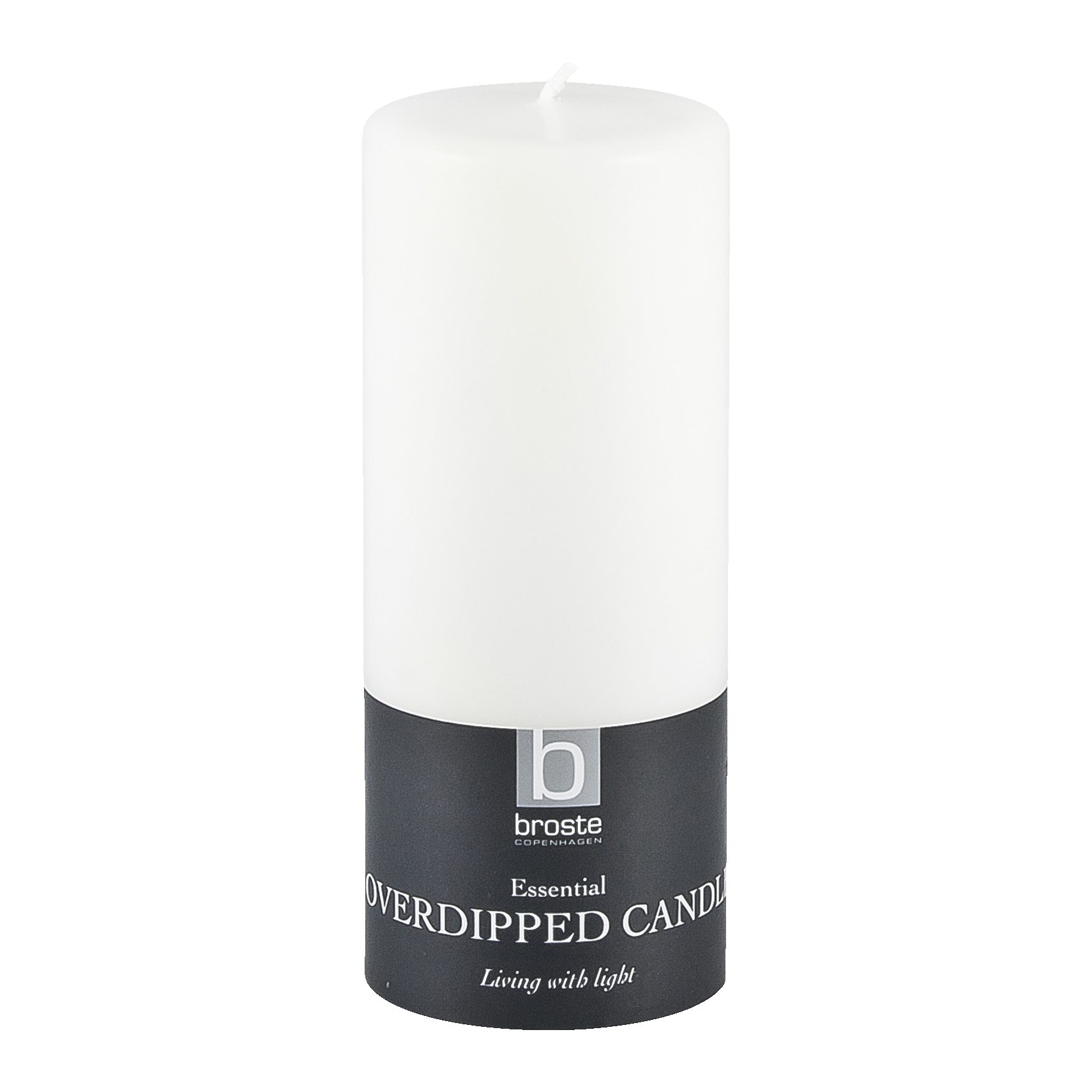 Candle Bloklys 15 x 6 cm - Offwhite paraffin