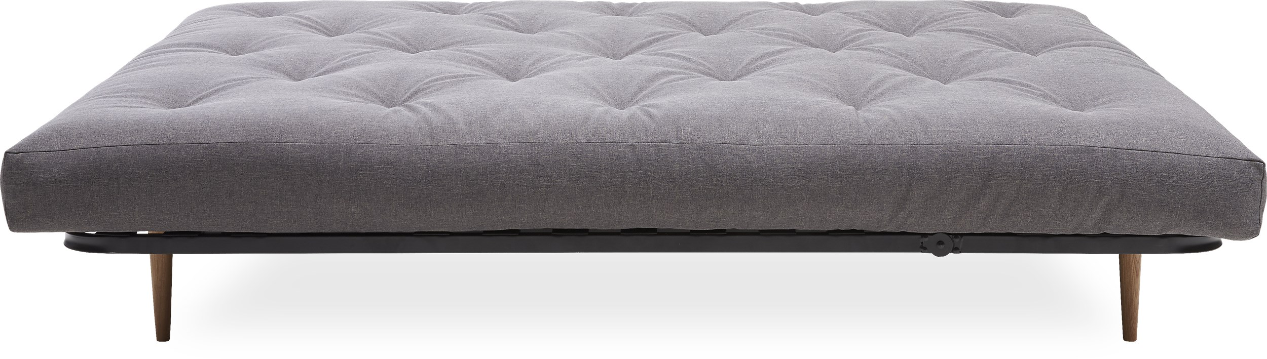 Innovation Living - Classic Round Sovesofa madras - Flashtex 216 Dark Grey og ekskl. Ben