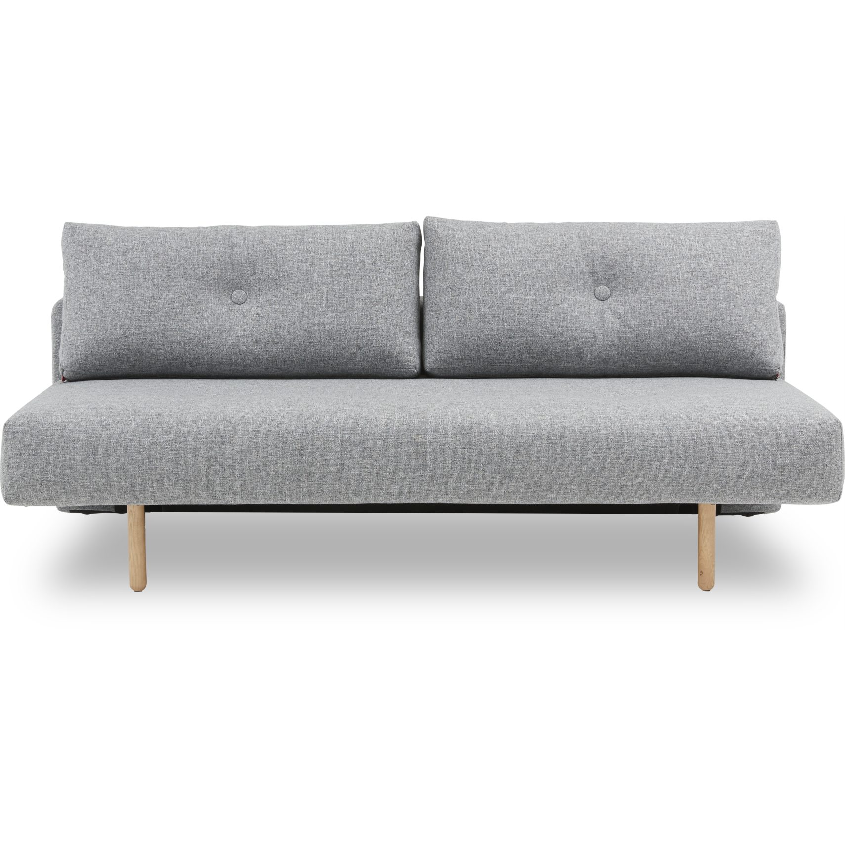 Thora luxus Sovesofa - Twist 565 Granite, pocketspring/hypersoft skummadras og stem ben i lyst træ