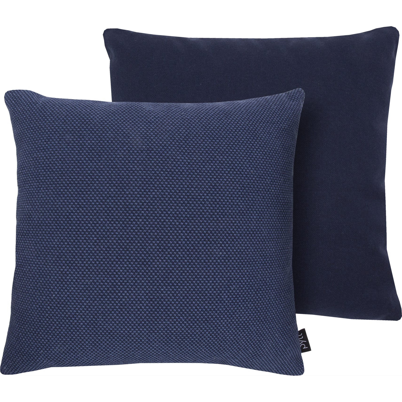 PYTT Square Pude 45 x 45 cm - Insignia blue/colony blue genbrugsbomuld