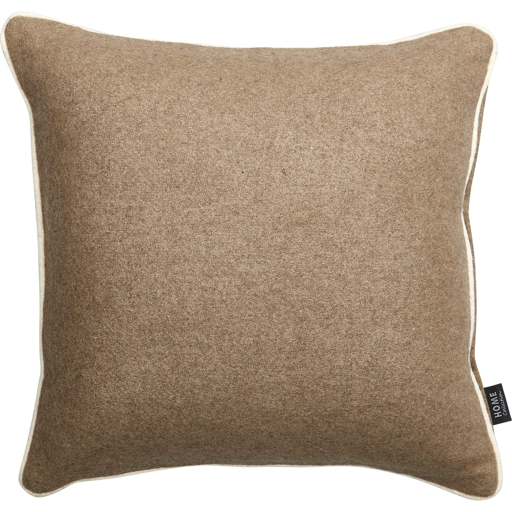 Amadora Pude 40 x 40 x 10 cm - Cinder uld og offwhite piping