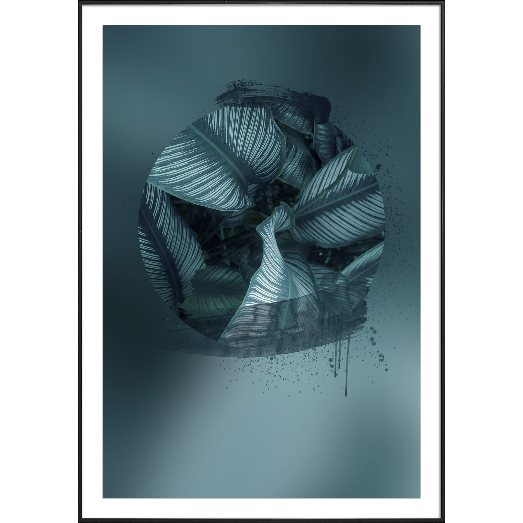 Pernille West Plakat - Abstract Blue 3