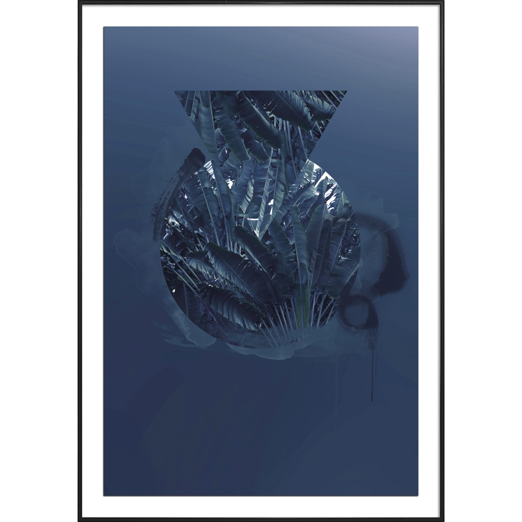 Pernille West Plakat - Abstract Blue 4