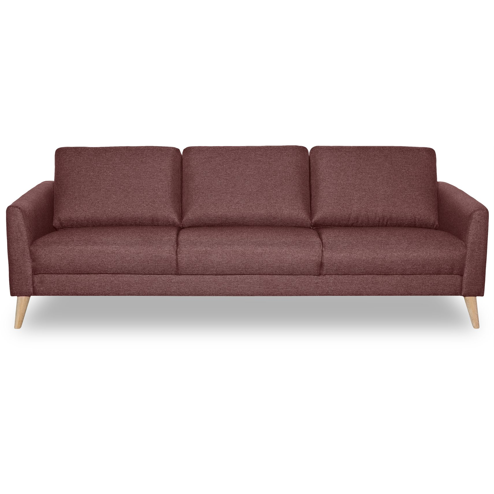 Lotus 3 pers Sofa - Golf Apple stof og ben i hvidolieret eg