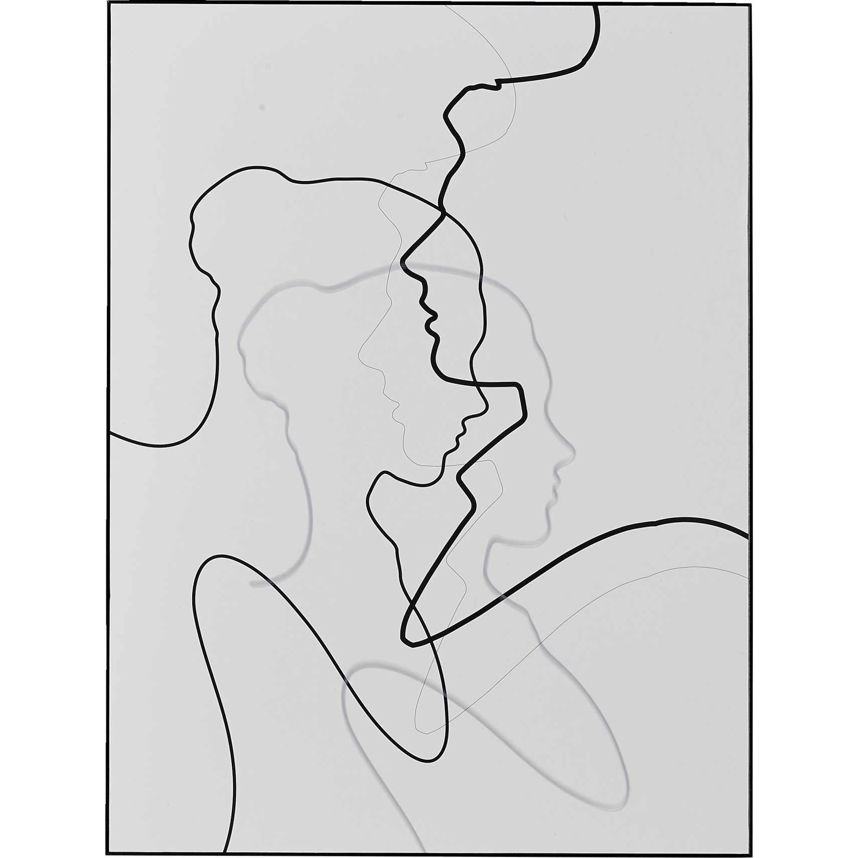 Together Female Plakat med ramme 60 x 80 x 7 cm - Blank, blank og Blank
