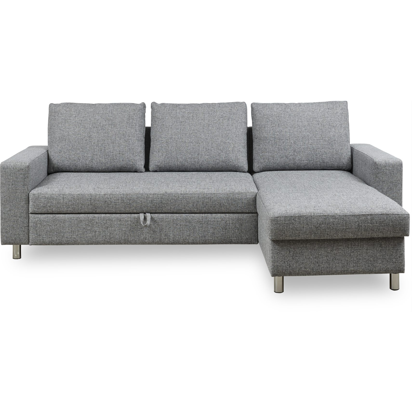 Devon Flex 260 Sovesofa - Riviera 53 Light Grey stof, Armlæn 1+1 og S: Pocket R: Dun/fiberkugler