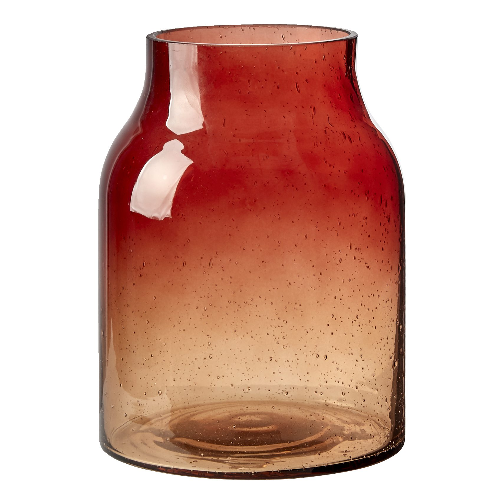 Esme vase 20 x 15 cm - Orange glas