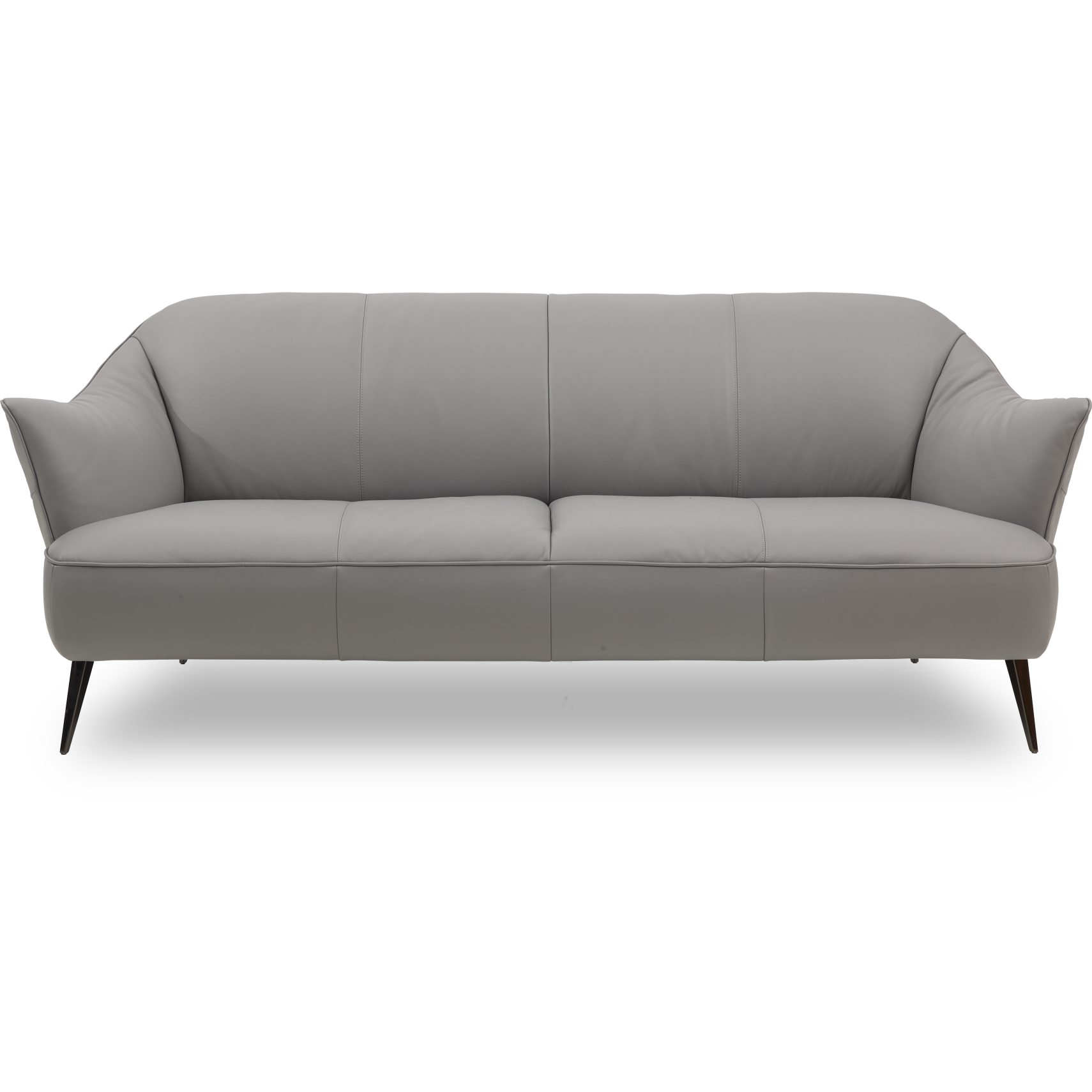 Natuzzi Editions C120 009 3 pers Sofa - Pasadena Light Grey læder og ben i sort krom