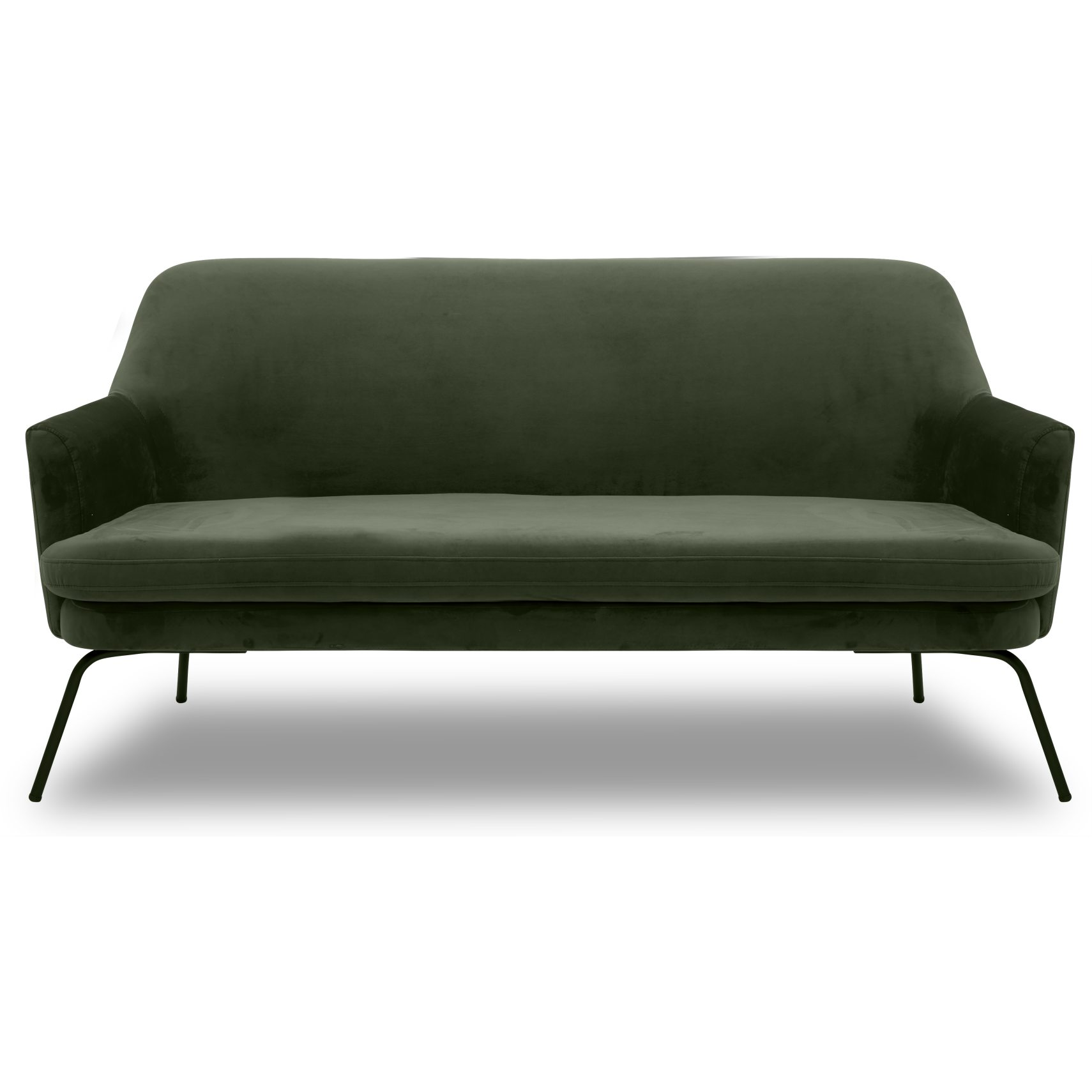 Chisa Sofa - Vic Deep Forest stof og med stel i sort metal