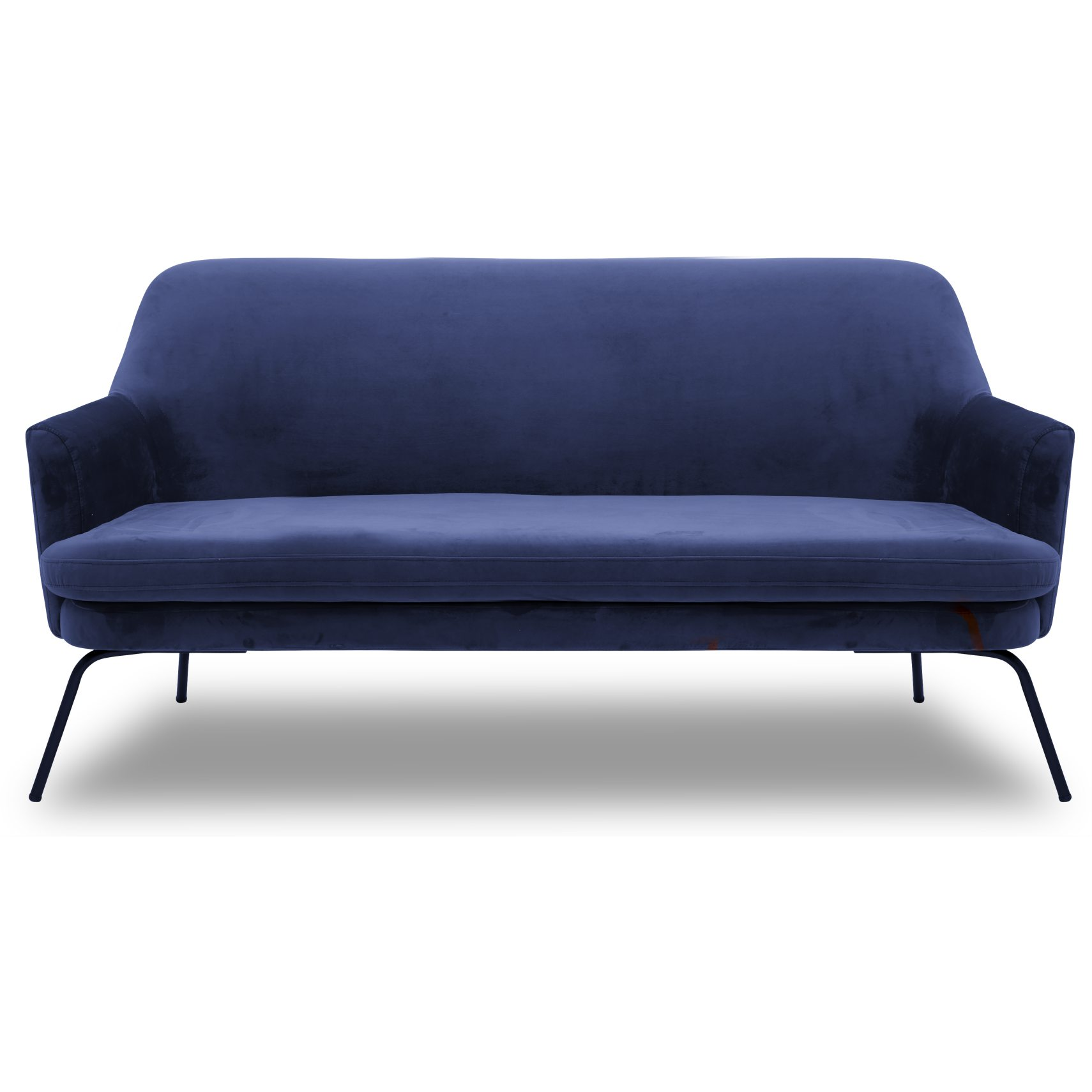 Chisa Sofa - Vic Navy Blue stof og med stel i sort metal