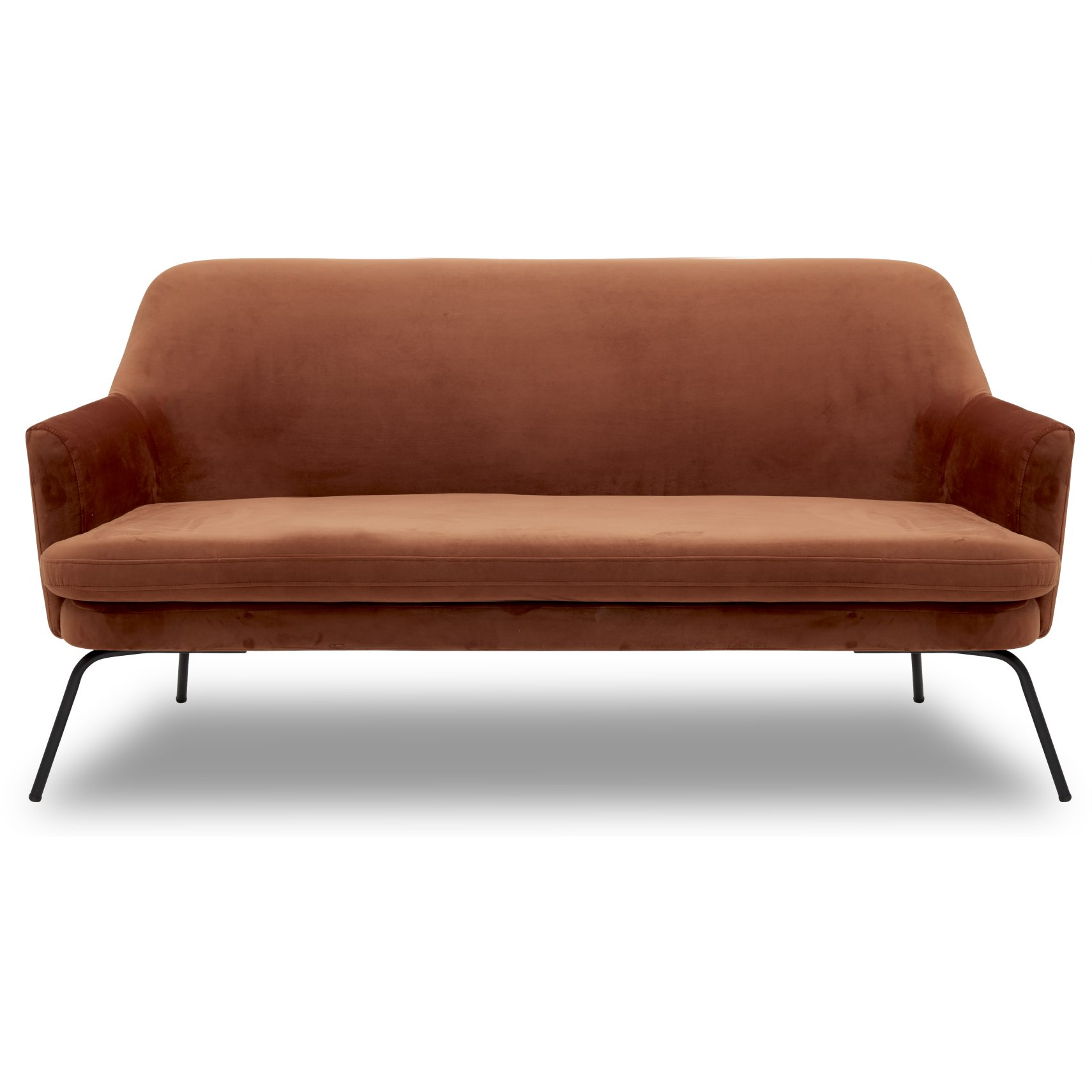 Chisa Sofa - Vic Copper stof og med stel i sort metal