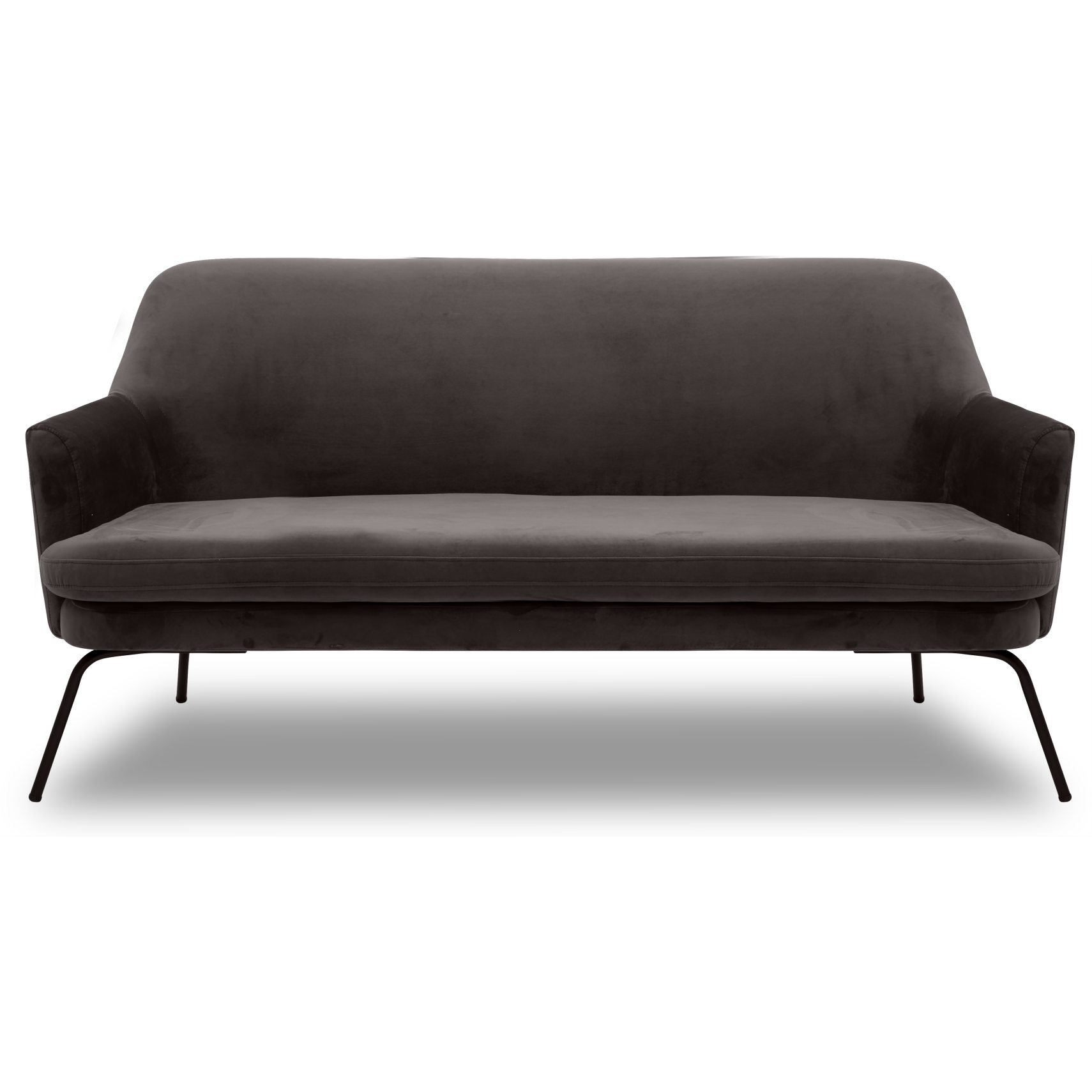 Chisa Sofa - Vic Warm Earth stof og med stel i sort metal