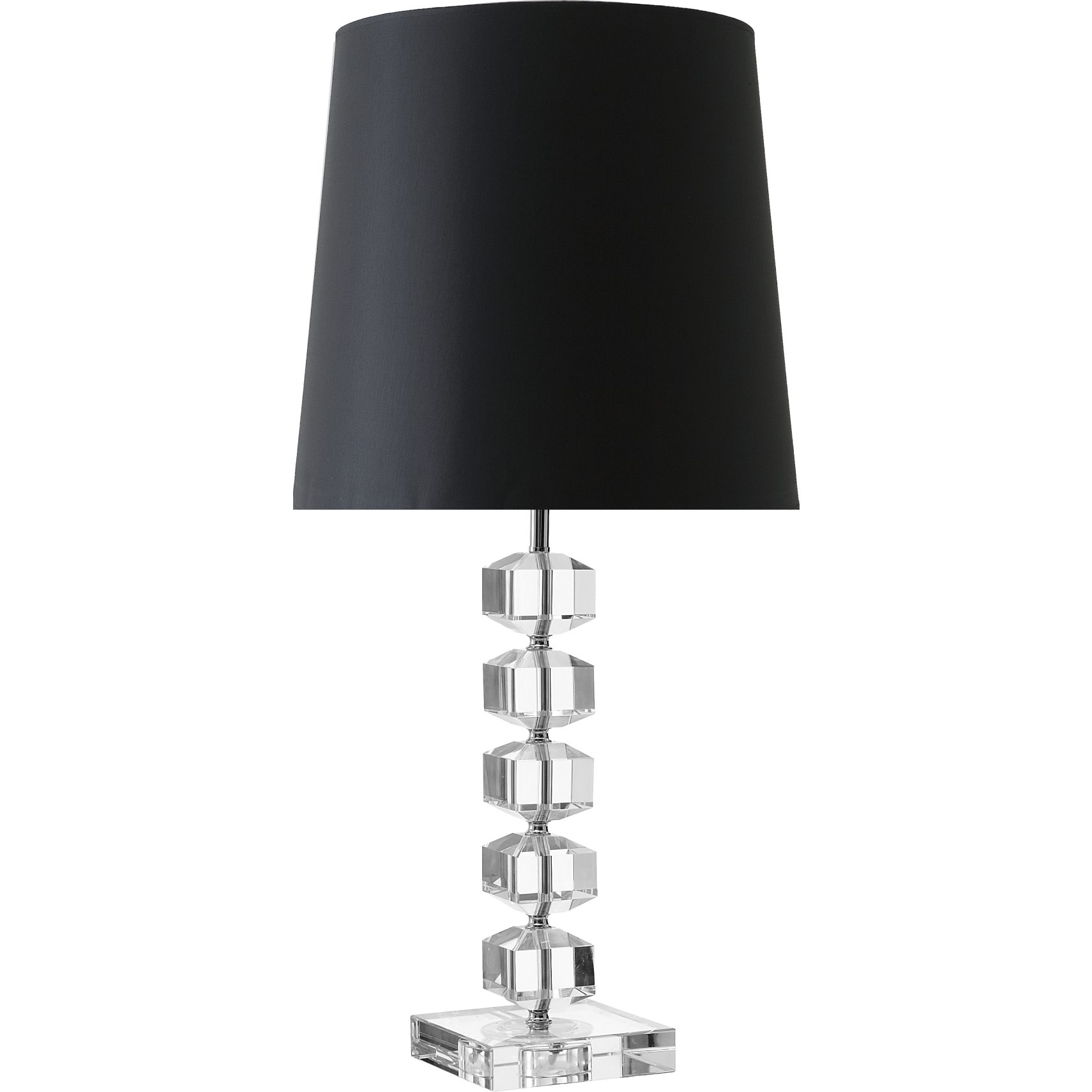 Crystal Bordlampe 44 x 13 cm - Massiv klar krystal base