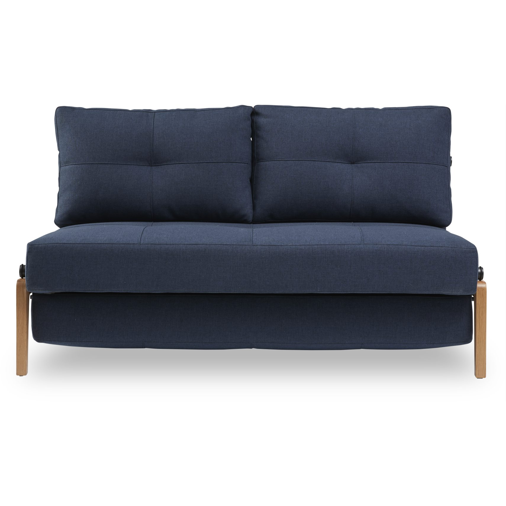 Innovation Living - Cubed Wood Sovesofa - Mixed Dance 528 Blue og ben i massiv lakeret eg