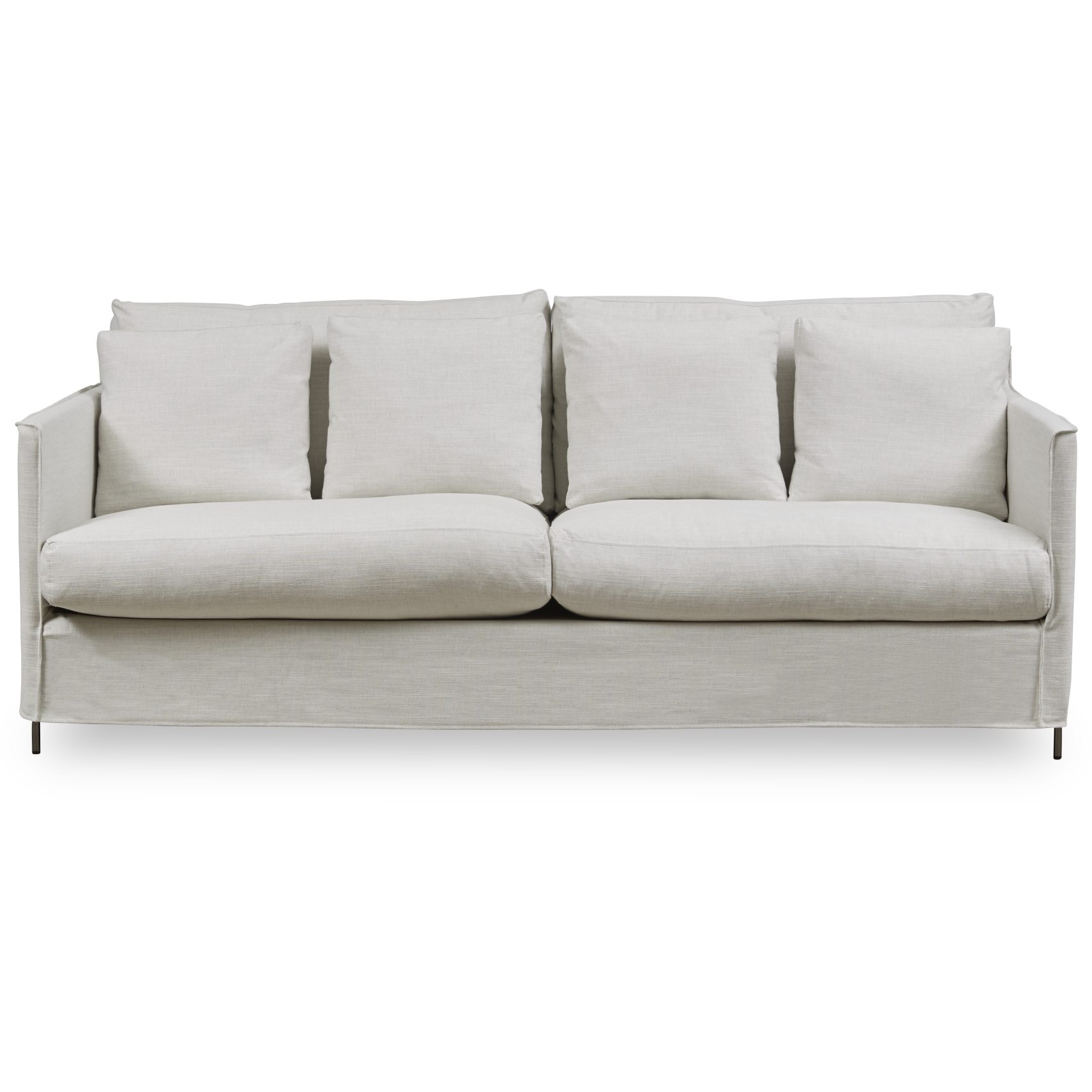 Gepetto 3 pers Sofa - Jim 1369-03 Ivory stof og ben i krom