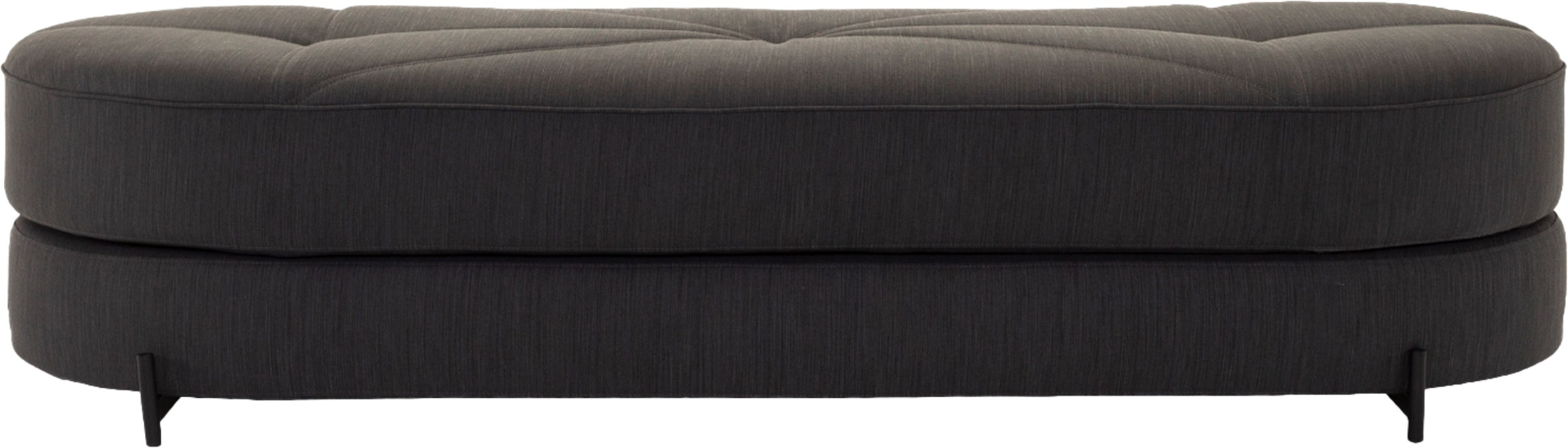 Innovation Living - Wilfred Sovesofa - Elegance 509 Anthracite Grey stof, pocketspring madras og ben i sort metal