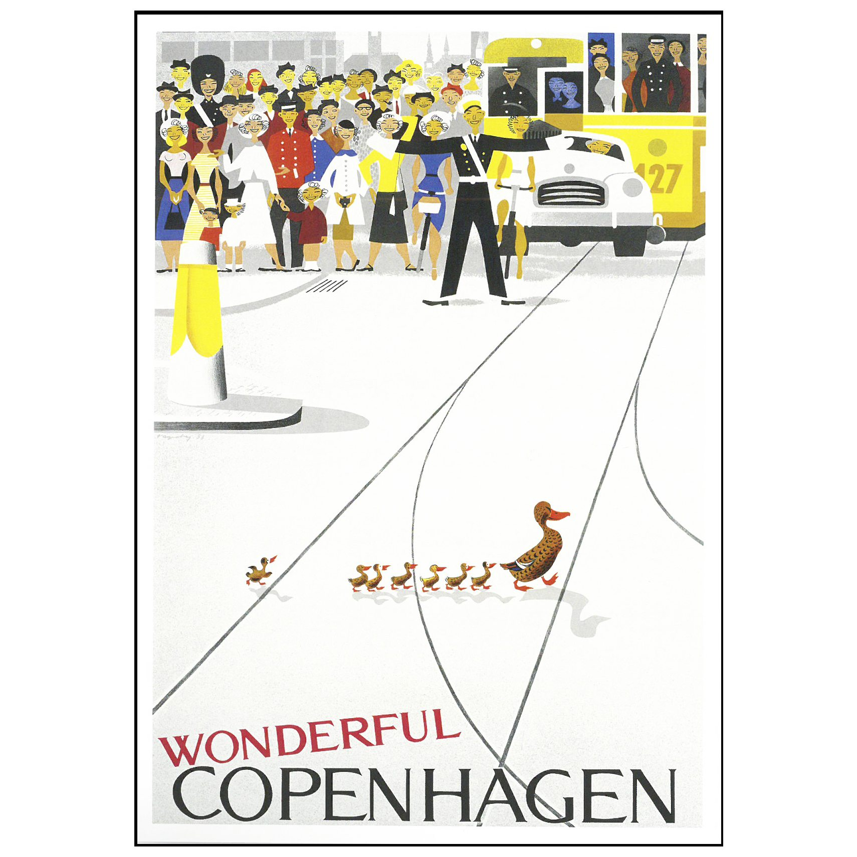 DANSK NOSTALGI Plakat - wonderful cph og Sort ramme