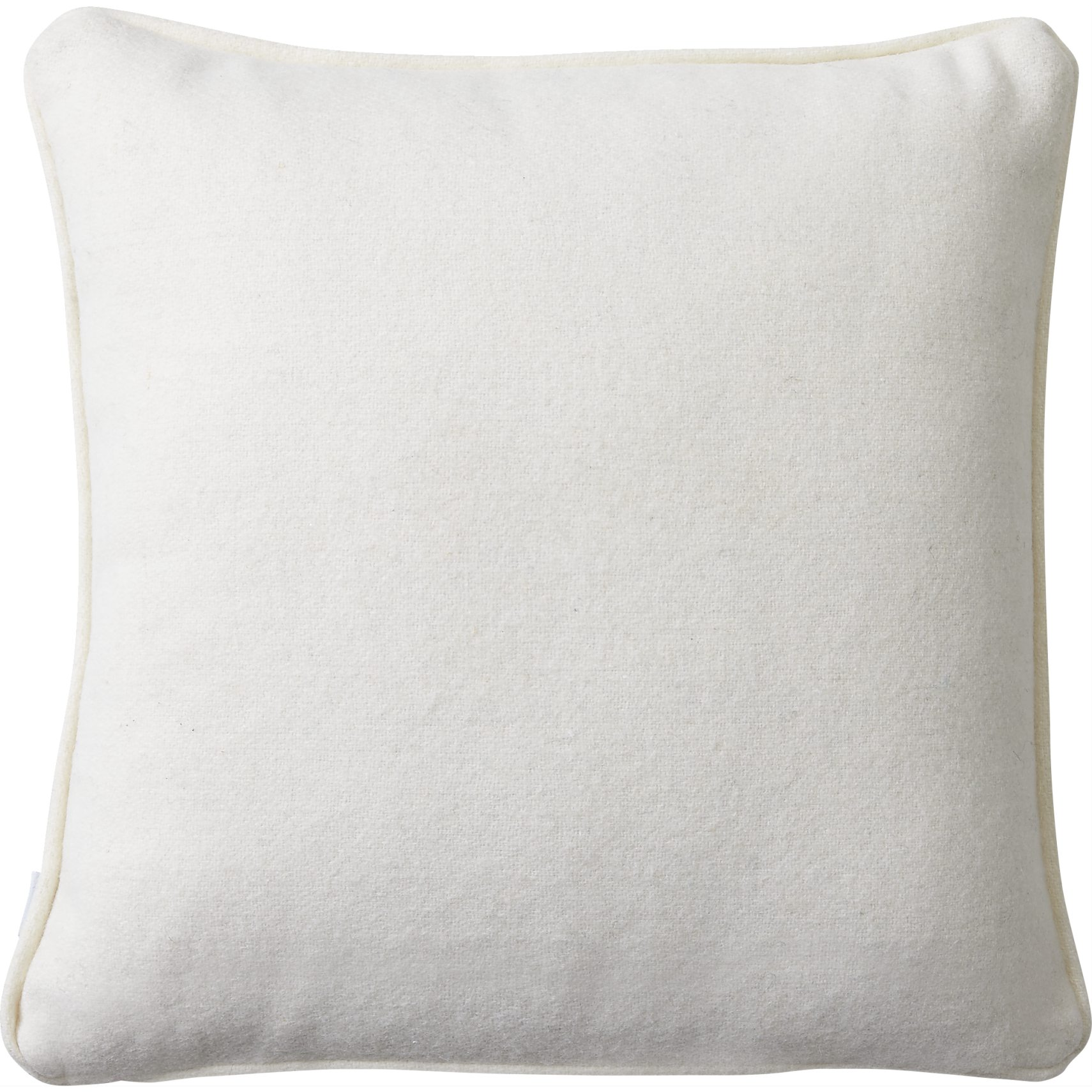 Amadora Pude 40 x 40 x 10 cm - Offwhite genbrugsuld og offwhite piping