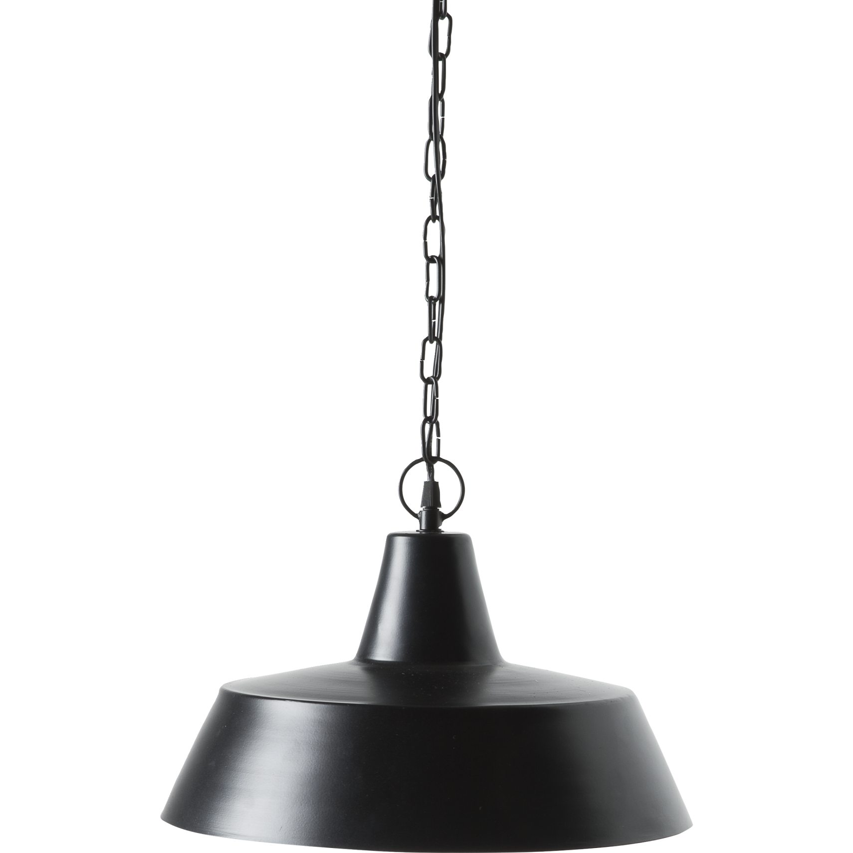 Metal lamp Pendel 38 cm - Mat sort metal